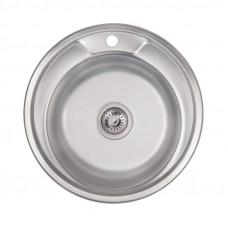 Кухонная мойка Lidz 490-A Satin 0,6 мм LIDZ490A06SAT160