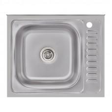 Кухонная мойка Lidz 6050-L Satin 0,6 мм LIDZ6050L06SAT
