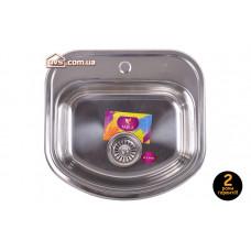 Мойка для кухни врезная прямоугольная 490x460х180 Decor MR 4946 D Mira