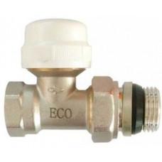 """Кран для радиатора прямой 1/2"""" под термоголовку с уплотнителем ECO5028"""