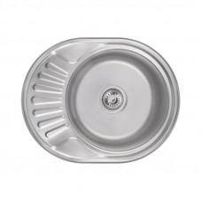 Кухонная мойка Lidz 5745 Satin 0,6 мм LIDZ574506SAT