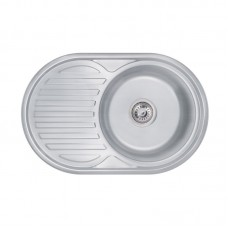 Кухонная мойка Lidz 7750 Decor 0,6 мм LIDZ775006DEC