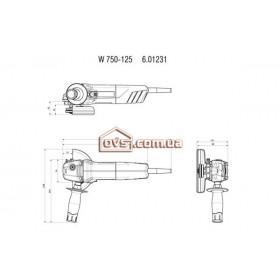 Угловая шлифмашина Metabo W750-125