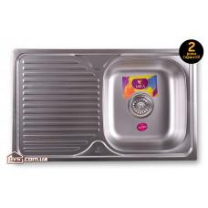 Мойка для кухни врезная прямоугольная с полкой 780х480х180 Decor MR 7848 D Mira