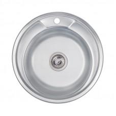 Кухонная мойка Lidz 490-A Decor 0,8 мм LIDZ490ADEC