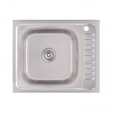 Кухонная мойка Lidz 6050-L Decor 0,6 мм LIDZ6050L06DEC