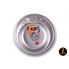 Мойка для кухни врезная круглая 490х180 Decor MR 490 D Mira