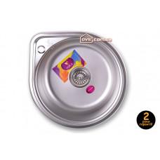 Мойка для кухни врезная круглая 530х180 Decor MR 530 D Mira