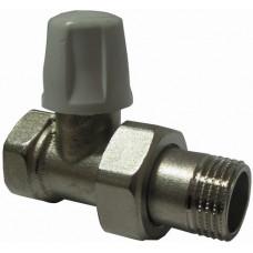 """Кран для радиатора с накидной гайкой 3/4"""" прямой под ключ ICMA 815"""