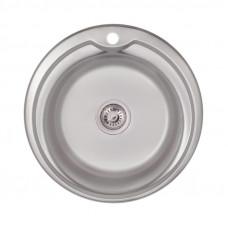 Кухонная мойка Lidz 510-D Satin 0,8 мм LIDZ510DSAT