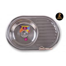 Мойка для кухни врезная круглая с полкой 770х500х180 Decor MR 7750 D Mira