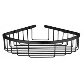 Полка в ванную Угловая Одинарная Черный Мат. Globus Lux BS8499