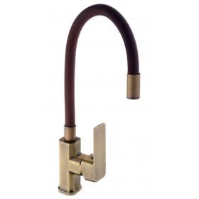 Смеситель для кухни DOMINO MALIBU DMM-203 LR-Bronze-Brown с гибким изливом