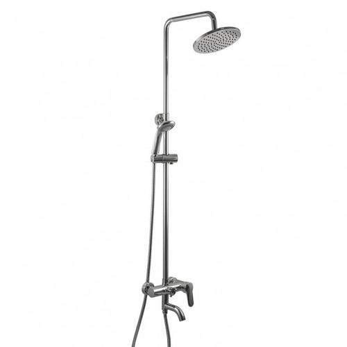 Душевая система Globus Lux DS0002 с изливом, латунь, с тропическим душем