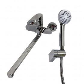 Смеситель для ванны Globus Lux Ontario GLO-0208 латунь L350мм, комплект с душем