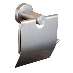 Держатель для туалетной бумаги с крышкой Нержавейка Globus Lux SS8410