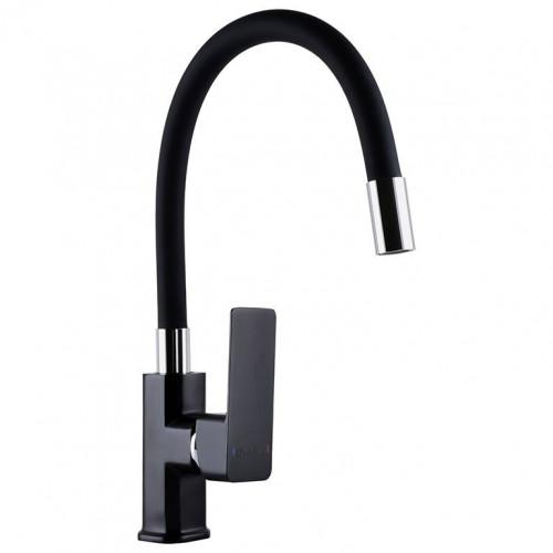 Смеситель для кухни DOMINO MALIBU DMM-203 LR-BLACK-BLACK с гибким изливом