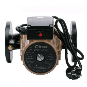 Циркуляционный насос OP40-130 220мм фланцевый Optima с кабелем и евровилкой