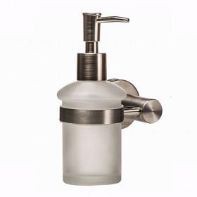 Дозатор жидкого мыла навесной Стекло Мат. Нержавейка Globus Lux SS8433