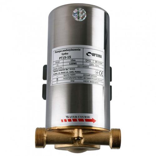 Насос для повышения давления Optima PT 15-15 с датчиком протока + гайки