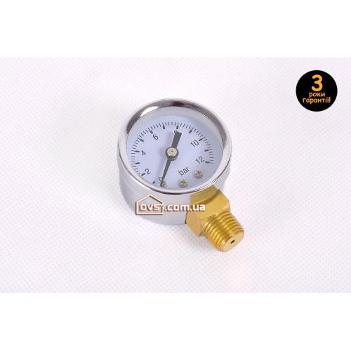 Манометр радиальный 12 атм. 40мм Cristal