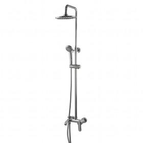 Душевая система Globus Lux GLLR-0001 LAZER с изливом, латунь, с тропическим душем