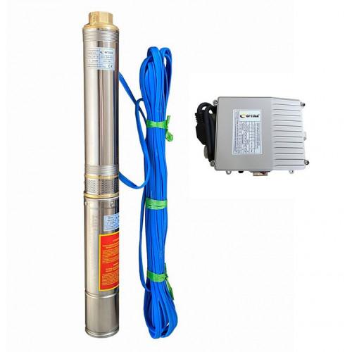Скважинный насос OPTIMA 4SDm3/15 1.1кВт 109м + пульт + кабель 15м