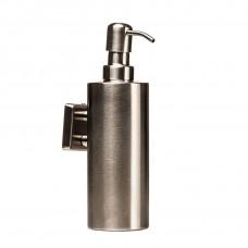 Дозатор жидкого мыла Квадро подвесной Металл. Нержавейка Globus Lux SQ9432