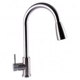 Смеситель для кухни Globus Lux ALPEN SBT1-2031 с выдвижным изливом