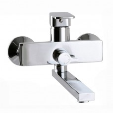 Смеситель для ванны Globus Lux Milano GLM-102N EURO L-140мм латунь, комплект с душем