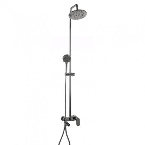 Душевая система Globus Lux VAN-DS0010 Prizma с изливом, латунь, Штанга H=150см