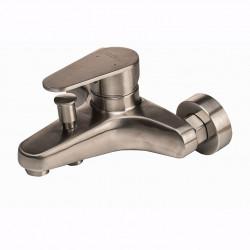 Смеситель для ванны Globus Lux MAIN SHM-102-M Нержавейка, Комплект с душем