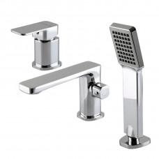 Смеситель для ванны Globus Lux Milano GLM-109 монтаж на борт ванны, латунь, комплект
