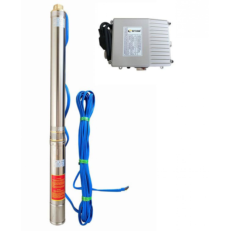 Скважинный насос OPTIMA 4SDm3/27 2.2кВт 196м + пульт + кабель 15м