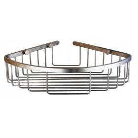 Полка в ванную Угловая Одинарная Нержавейка Globus Lux SS8499