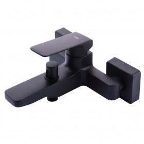 Смеситель для ванны TOPAZ ODISS TO 18101-H52-BL cartridge D35, черный матовый, комплект с душем