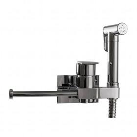 Гигиенический душ Globus Lux GLN-4-106MIX Cold/Hot скрытого монтажа с держателем для полотенец