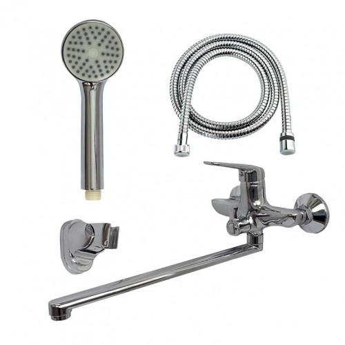 Смеситель для ванны Globus Lux Koln GLK-208 EURO латунь L350мм, комплект с душем