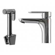 Смеситель для умывальника с гигиеническим душем TOPAZ BARTS TB 07204-H37 со встроенным клапаном