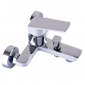 Смеситель для ванны TOPAZ LEXI TL 21101A-H57-CW cartridge D35, белый-хром, комплект с душем
