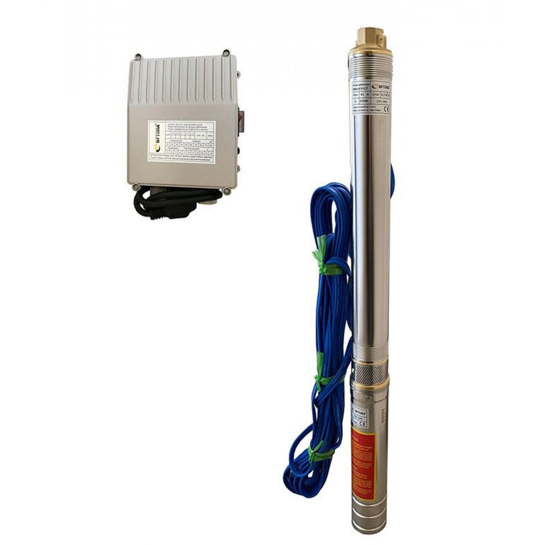 Скважинный насос OPTIMA 2.5SDm1.5/25 0.37кВт 67м + пульт + кабель 15м