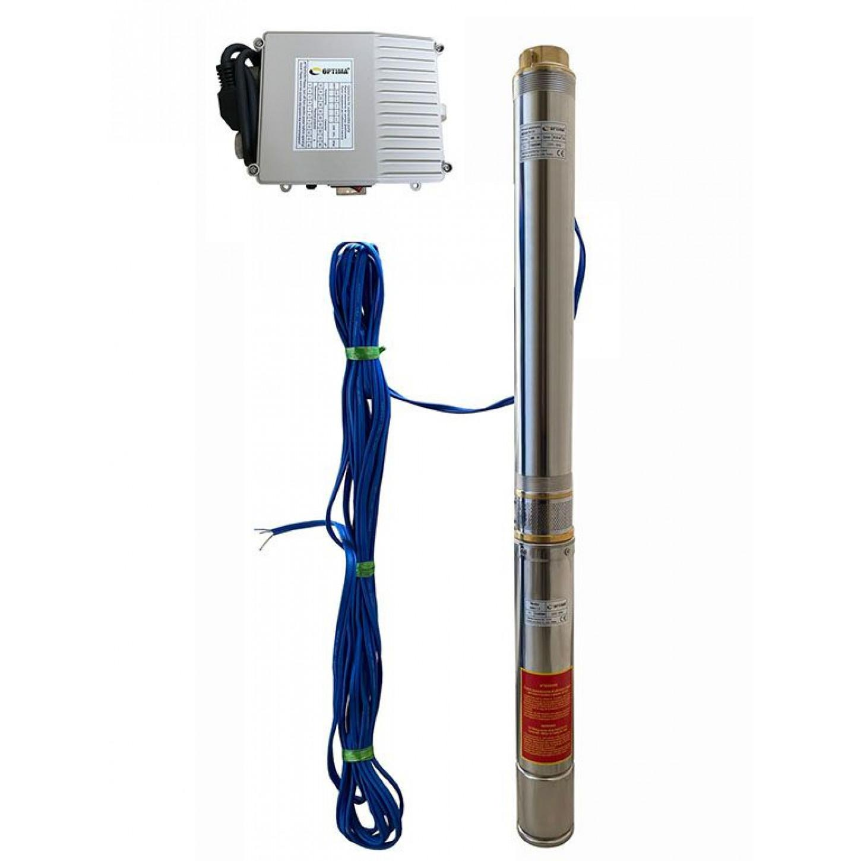 Скважинный насос OPTIMA 4SDm6/14 1.5кВт 88м + пульт + кабель 15м