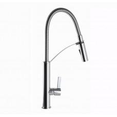 Смеситель для кухни TOPAZ SARDINIA TS 8818-0 Хром с гибким изливом, лейка-душ