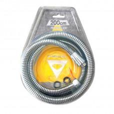 Шланг для душа TOPAZ TSH-6004-2,00м хром 200см усиленный с вращающейся гайкой, Blister
