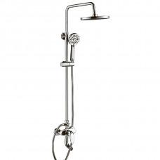 Душевая система Globus Lux DS-002A с изливом, латунь, комплект с тропическим душем