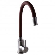 Смеситель для кухни Globus Lux ALPEN SUS-203SBR коричневый с гибким изливом