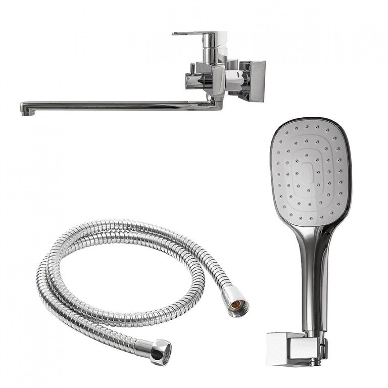 Смеситель для ванны TOPAZ SARDINIA TS 08116-H19 EURO излив 350мм, EURO переключатель, cartridge D35, комплект с душем