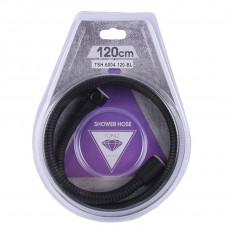Шланг для душа TOPAZ TSH-6004-120-BL-1,20м Черный, усиленный с вращающейся гайкой, Blister