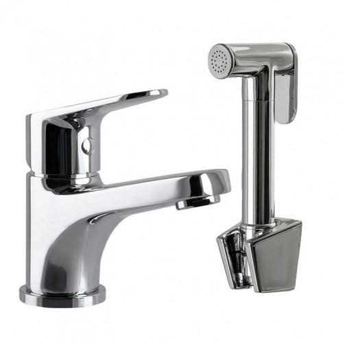 Смеситель для умывальника с гигиеническим душем TOPAZ ZARA TZ 13204-H37