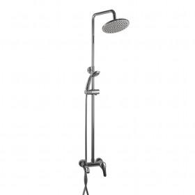 Душевая система Globus Lux GLSO-0001 с изливом, латунь, с тропическим душем